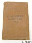 Book [Field Service Pocket Book]; British War Office; 1914; CT78.801a
