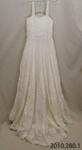 Dress, wedding; [?]; Mid 20th century; 2010.280
