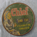 Round tobacco tin: Chief Fine Cut Cigarette Tobacco; Fletcher, Humphreys & Company Limited, Christchurch; 0000.0031