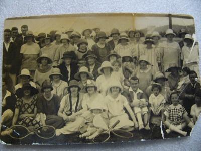 Photograph - Owaka Tennis Club opening 1925.; Kodak (A/asia) Pty. Ltd.; 1925; 0000.0151