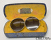 Sunglasses in case; W V Sturmer, Consulting Optician; [?]; CT85.1707a