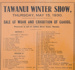 Poster; Tawanui Winter Show, 1930; Clutha Leader Print; 1930; CT01.4044.7