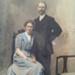 James Wright and Margaret Jane Falconer, hand-coloured wedding portrait; 0000.0156