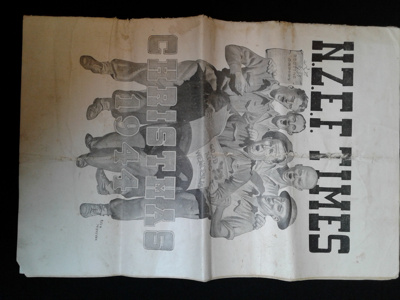 Newspaper, NZEF Times, Christmas 1944; Second NZ Expeditionary Force; 23 Dec, 1944; 0000.0671