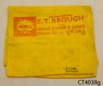 Cloth, cleaning; E T Brough Ltd; 20th century; CT4038g