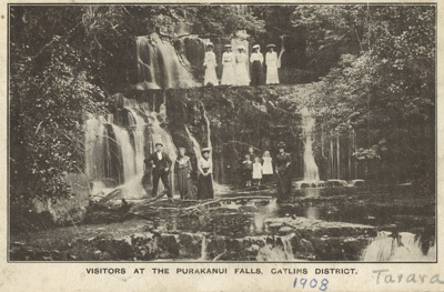 Photograph [Purakaunui Falls, The Catlins]; [?]; c1908; CT79.1098b