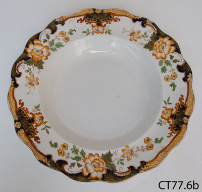 Plate, soup; Doulton & Co Ltd; Post 1902; CT77.6b