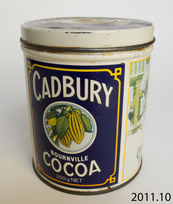 Tin, cocoa; Cadbury Scweppes Hudson Ltd; 20th century; 2011.10