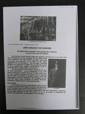 John Mackley, family history/business history, gunpowder factory; Mike McPhee; August 2019; 0000.0544