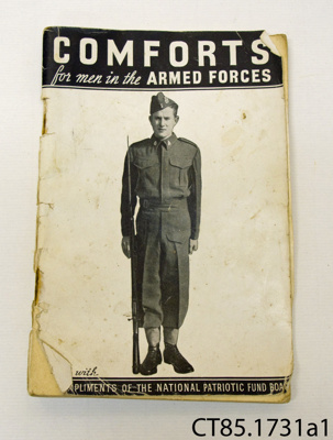 Booklet [Comforts for men in the Armed Forces]; 1940; CT85.1731a1