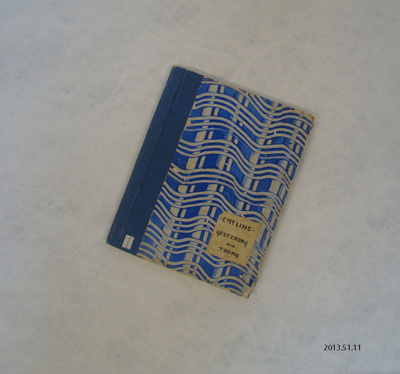 Book; research project; Rix, H.; 1939; 2013.51.11