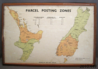 Map [Parcel Posting Zones]; Post Office; [?]; 2010.449