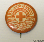 Badge, commemorative; [?]; c1918; CT78.990