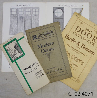 Price list, W J R McCallum, Saddle and Harness Maker and Timber Merchant, Owaka; Hogg & Co Ltd; 1925-1927; CT02.4071