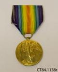 Medal, military ; [?]; c1919; CT84.1138r