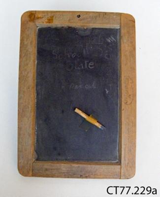Slate, writing; CT77.229
