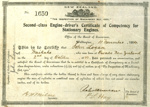 Engine Driver's Certificate, 1904; New Zealand Government; 1904; CT78.620