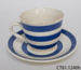 Teacup and saucer; CT81.1240h