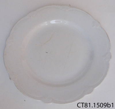 Plate, dinner; W H Grindley & Co; 1891-1925; CT81.1509b1