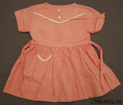 Girl's, gingham dress, 1950s
