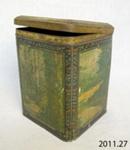 Caddy, tin; A Harvey & Sons Ltd; [?]; 2011.27