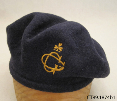 Beret, Girl Guide; Girl Guides Association; 20th century; CT89.1874b1