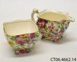 Cream jug and sugar basin; Grimwades Ltd; 1934-1950; CT06.4662.14
