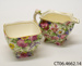 Cream jug and sugar basin; Grimwades Ltd; 1934-1950; CT06.4662.14