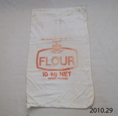 Bag, flour; Crown Milling Co Ltd; [?]; 2010.29