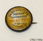 Badge, commemorative; [?]; c1915; CT82.1105a