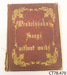 Book, music [Songs without Words]; Mendelssohn; CT78.470