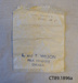 Paper Bag, Milk Token Bag; CT89.1896a