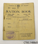 Book, ration; The Rationing Emergency Regulations; October 1945; CT83.1488d1