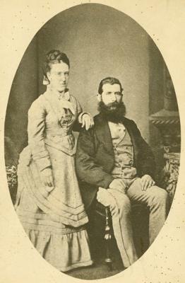 Photograph [Mr and Mrs Sutherland]; [?]; c1874; CT97.2078b