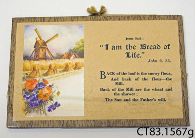 Poem [I am the Bread of Life]; [?]; CT83.1567g