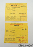 Licences, [Broadcast and Radio]; New Zealand Post Office; 1968; CT80.1402