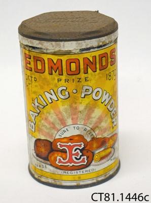 Tin, baking powder; T J Edmonds Ltd; [?]; CT81.1446c