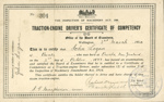 Certificate of Competency, Traction-Engine Driver; New Zealand Government; 1920; CT90.1778f