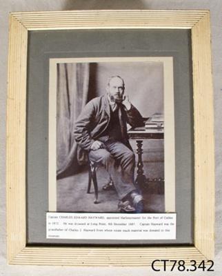 Photograph [Charles Edward Hayward]; [?]; 19th century; CT78.342