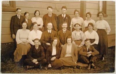 Photograph [Bible Class]; Eastes & Kerr, Owaka; 1920-1923; CT90.1758d