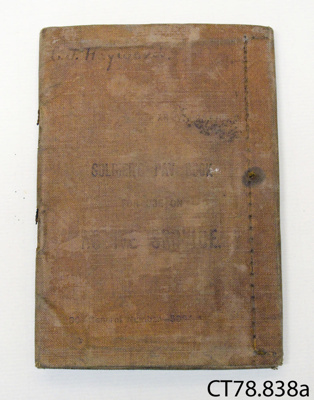 Book, soldier's pay; New Zealand Army; 1915; CT78.838a