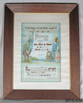 Certificate of appreciation [Private Thomas F Ward]; Owaka and District Patriotic Society; c1918; 2010.438
