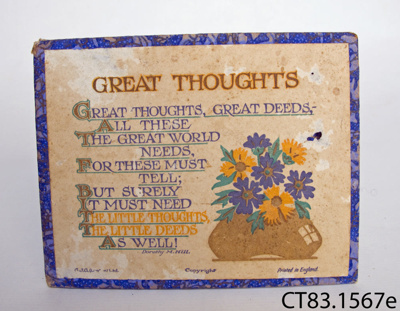 Poem [Great Thoughts]; Hill, Dorothy M; CT83.1567e