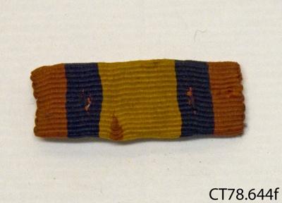 Ribbon, medal; [?]; c1902; CT78.644f