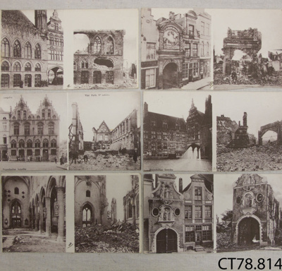 Postcards, from France, WWI, Charles Hayward; Charles J Hayward; 1914-1918; CT78.814