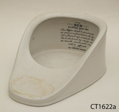 Bedpan; [?]; Early 20th century; CT82.1622a