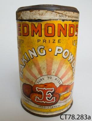 Tin, baking powder; T J Edmonds Ltd; 20th century; CT78.283