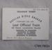 Ticket, Souvenir Ticket, Last Official Train, Catlins River Branch; Tahakopa Last Train Committee; 1971; CT89.1902a