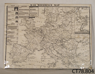 Map, 'War Reference Map'; [?]; Mid 20th century; CT78.804