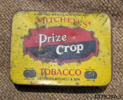 Tin, tobacco; Stephen Mitchell & Son; [?]; CT78.297c3